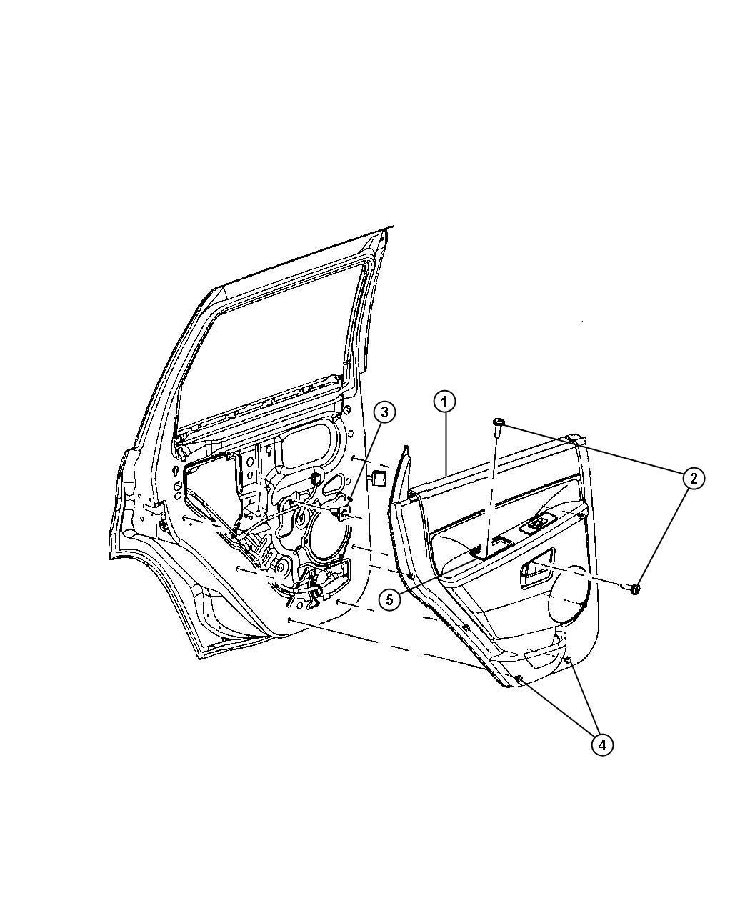 Jeep Grand Cherokee Panel. Rear door trim. Right. [j3