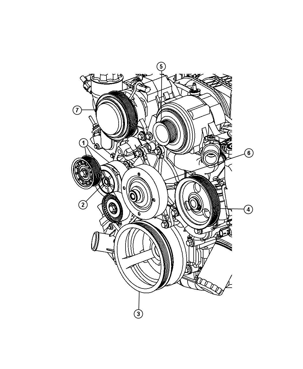 Dodge Ram Pulley Power Steering Pump Sreering