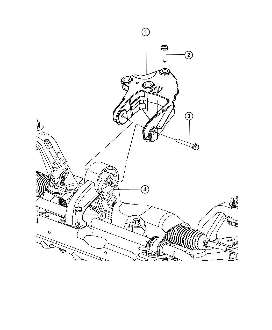 Chrysler 200 Bushing, engine mount. Isolator. Rear. [front