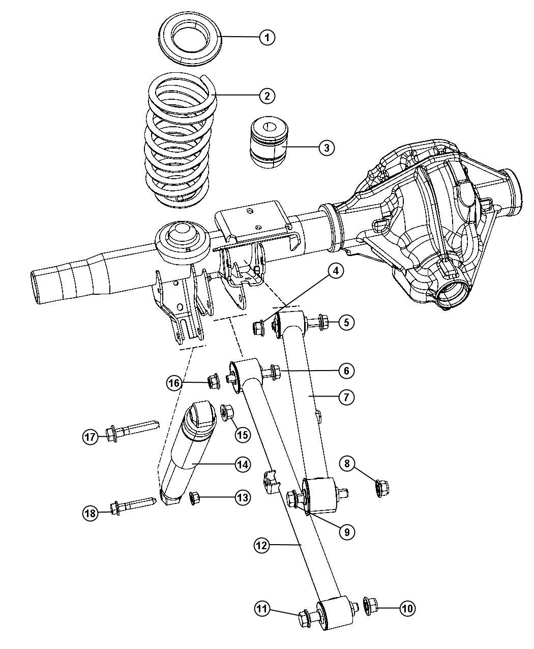 Dodge Ram 1500 Bumper. Jounce. Without [air suspension, 4