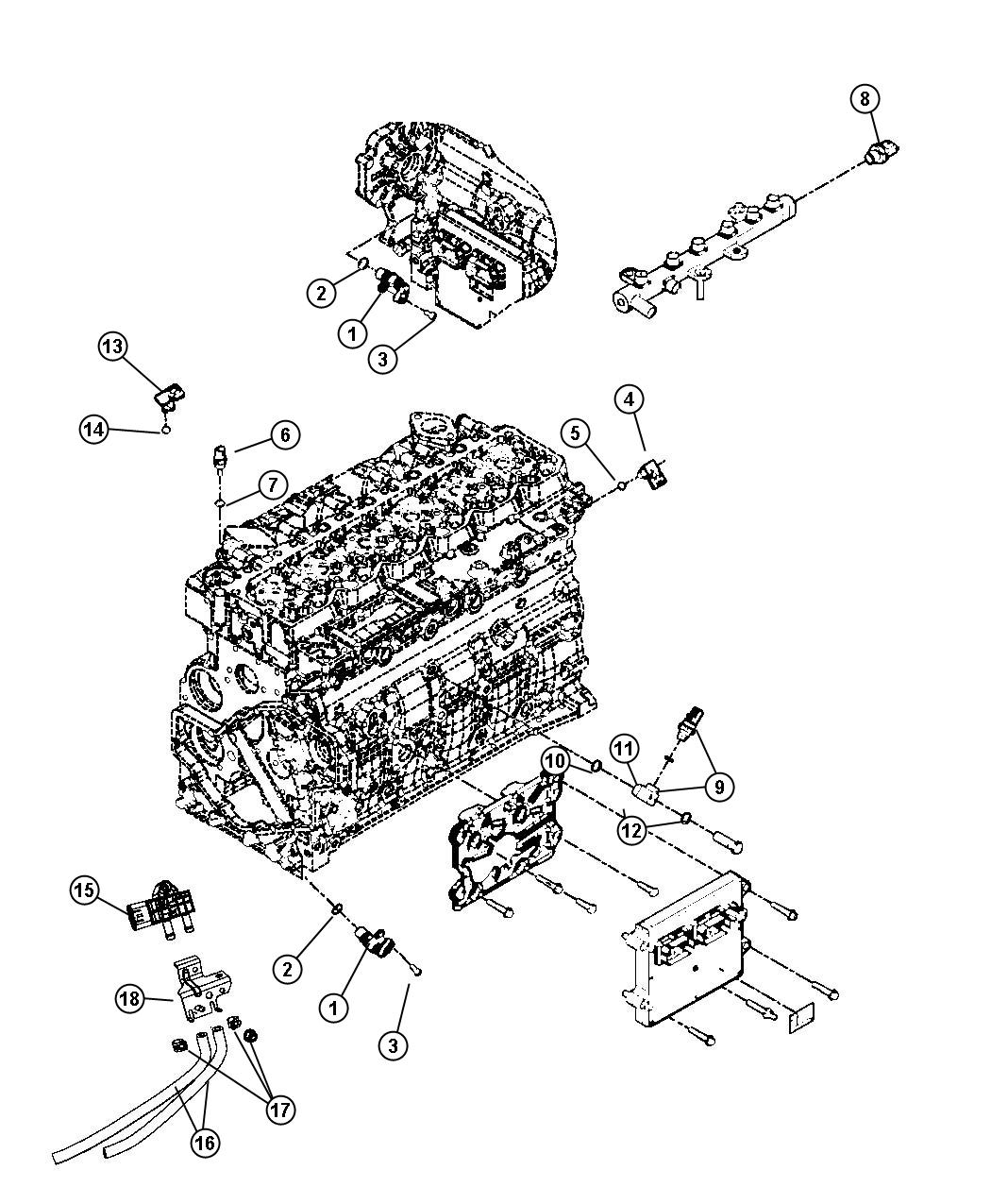 Dodge Ram 4500 Hose. Differential pressure. Down stream