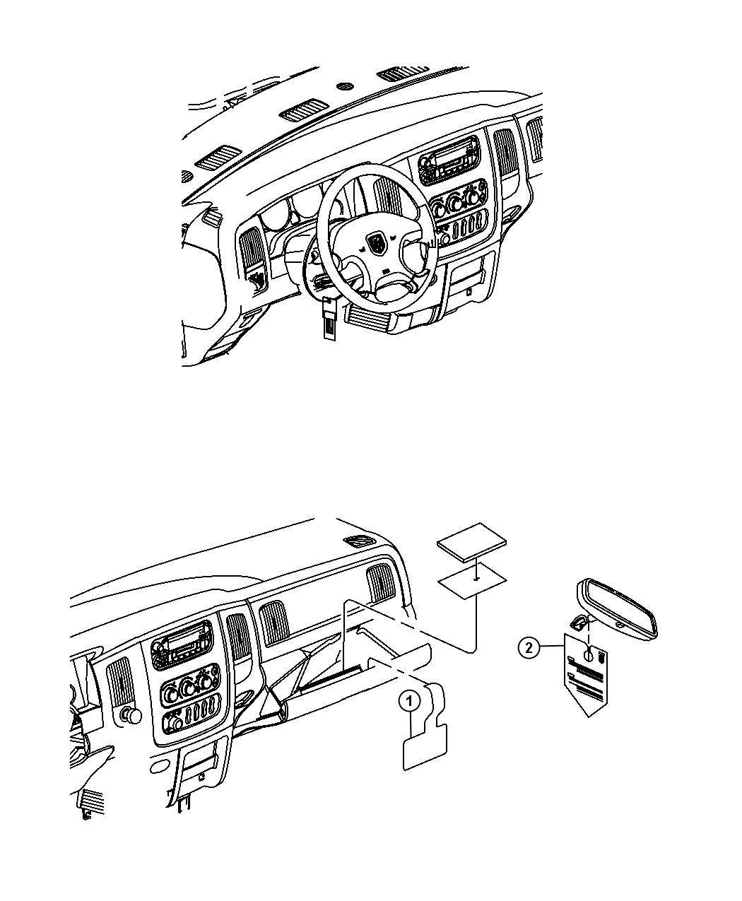 Dodge Ram 2500 Label. Diesel fuel. Four wheel drive