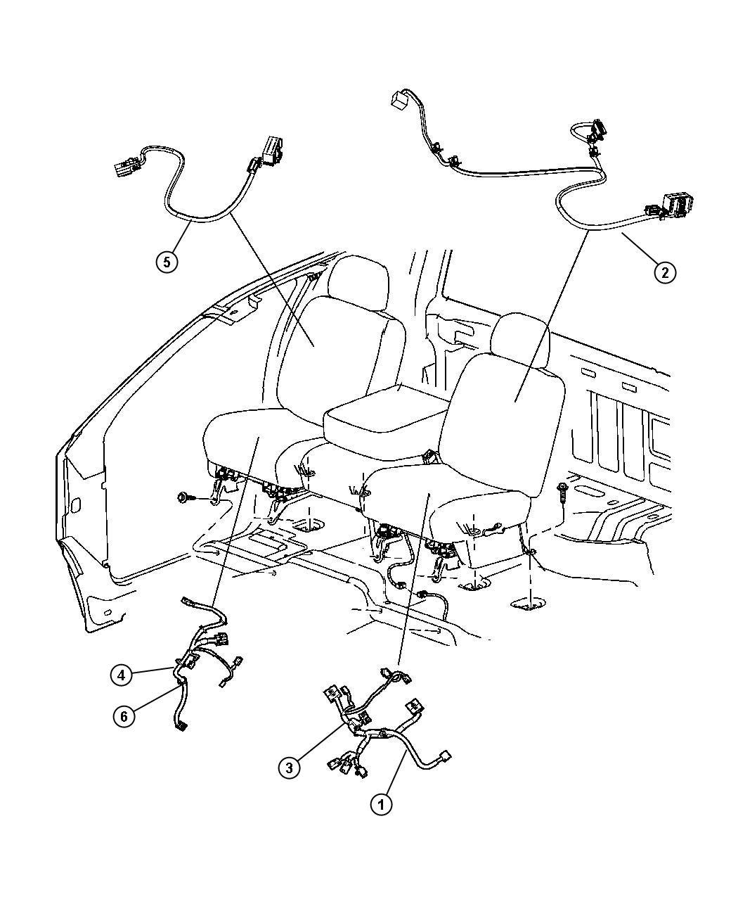 Ram Wiring Seat Back Driver Side Trim Cloth