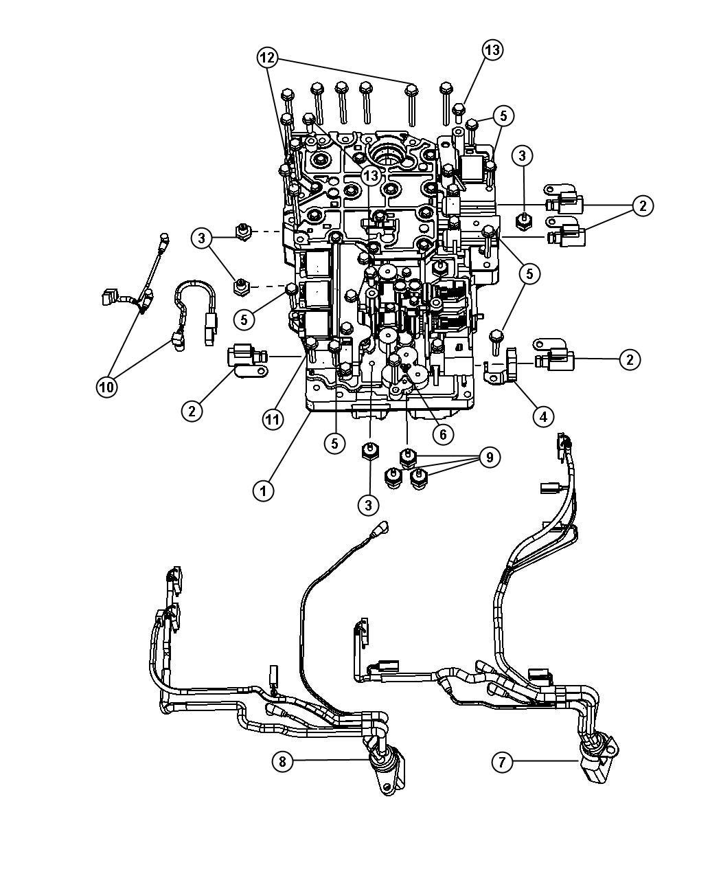 Dodge Ram 5500 Harness, wiring. Transmission. 12 pin