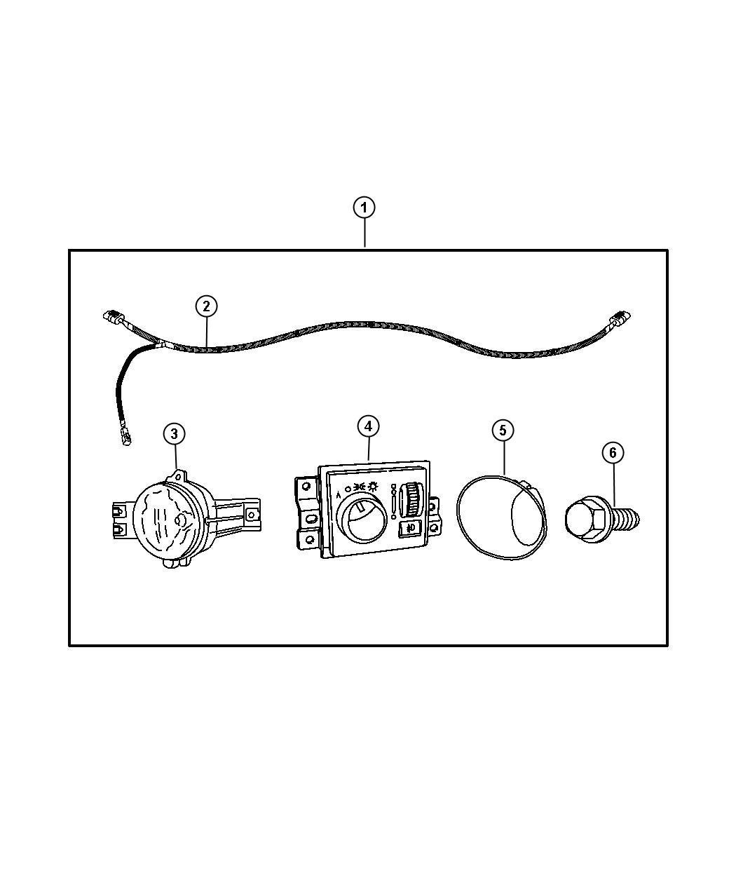 Dodge Ram 5500 Fog Lights, Complete Kit, includes switch