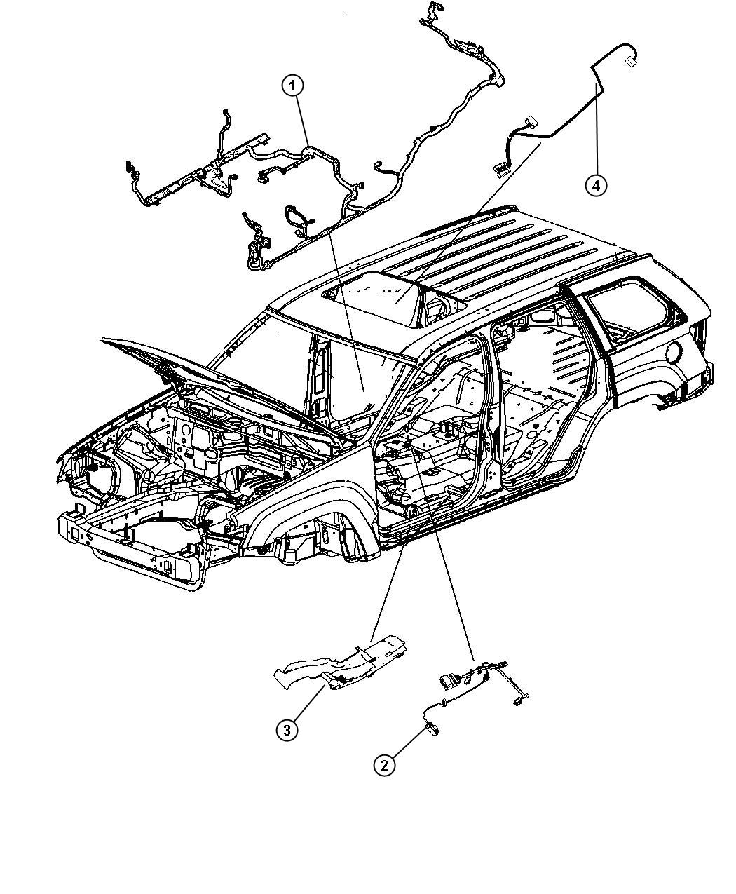 Jeep Grand Cherokee Wiring. Body. Export. [premium alpine
