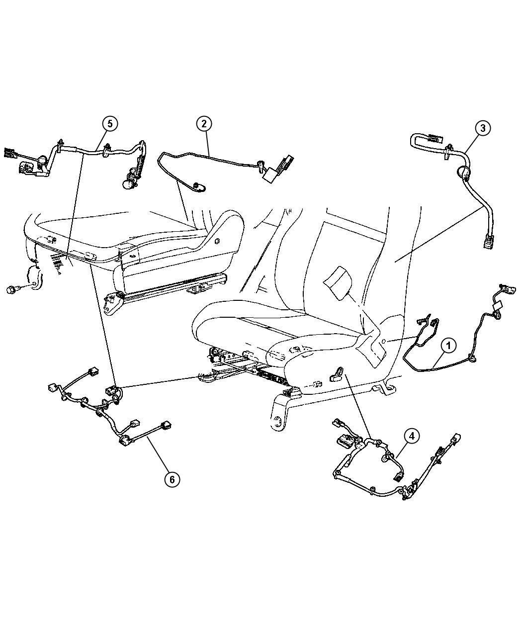 Jeep Grand Cherokee Wiring. Power seat. Active head