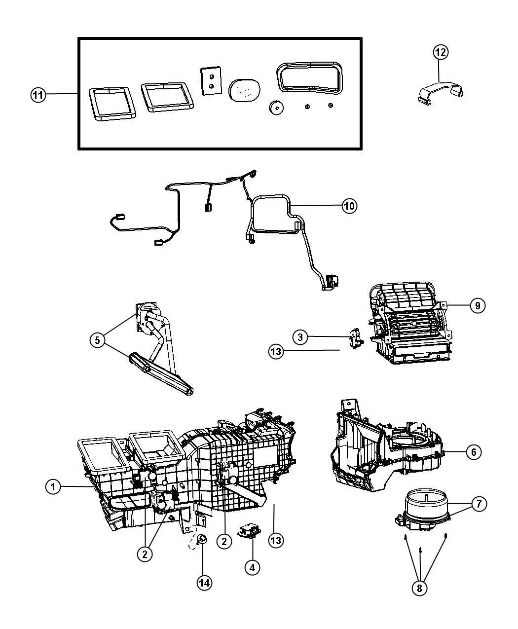 Ram Housing Blower Motor