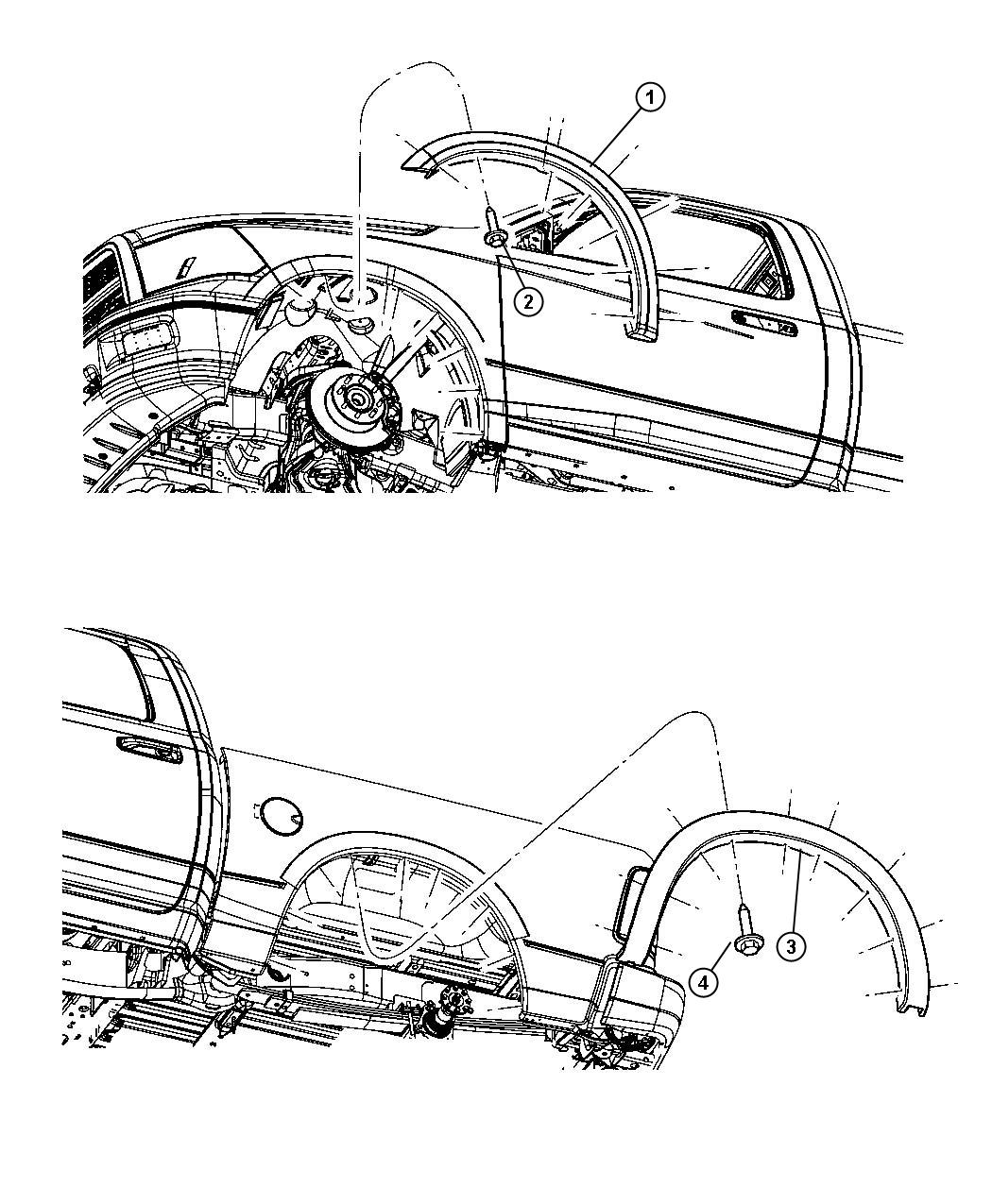 Ram Molding Wheel Opening Flare Rear Right Right