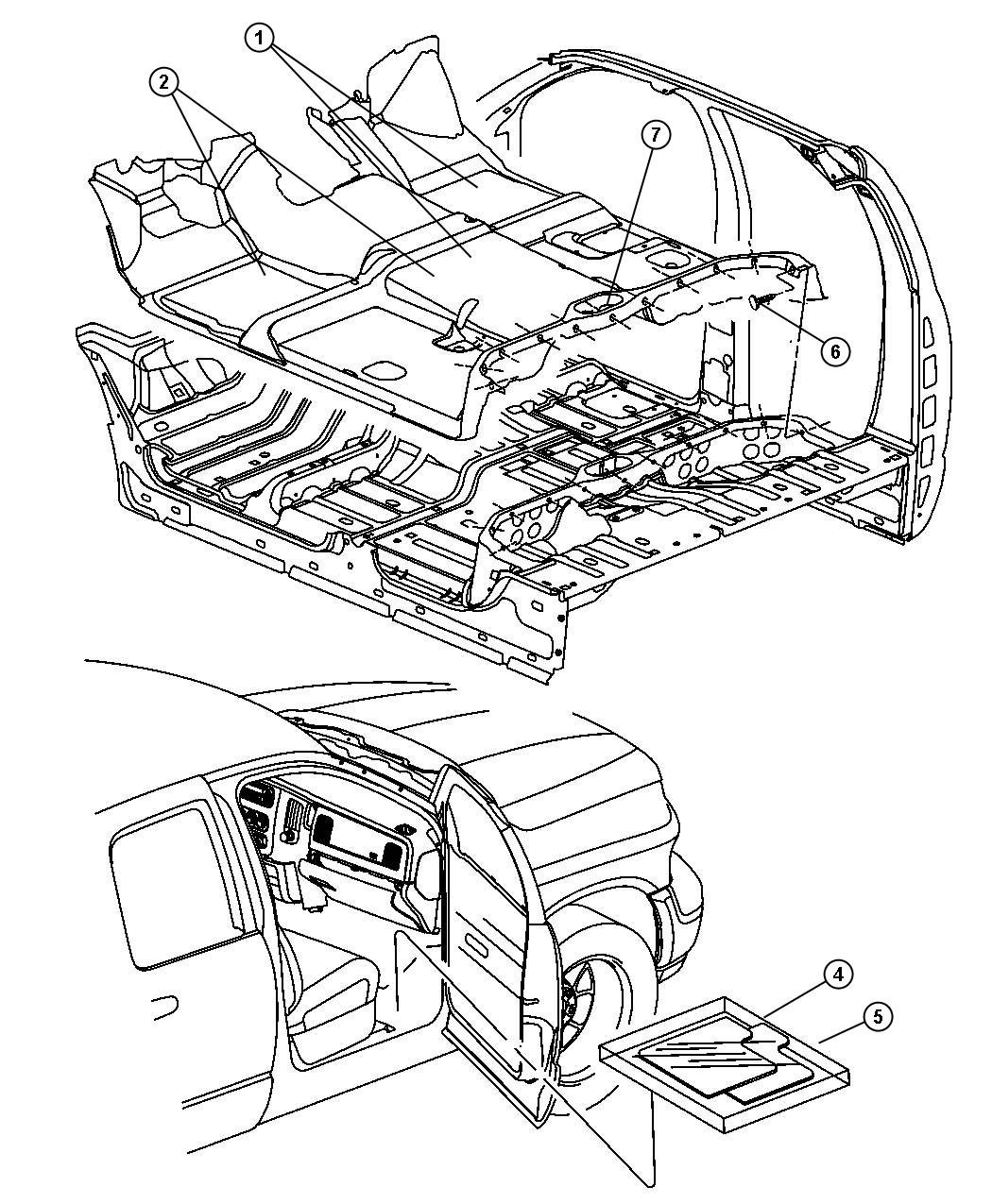 RAM 3500 Mat kit. Floor. [kt], [kt], [front floor mats
