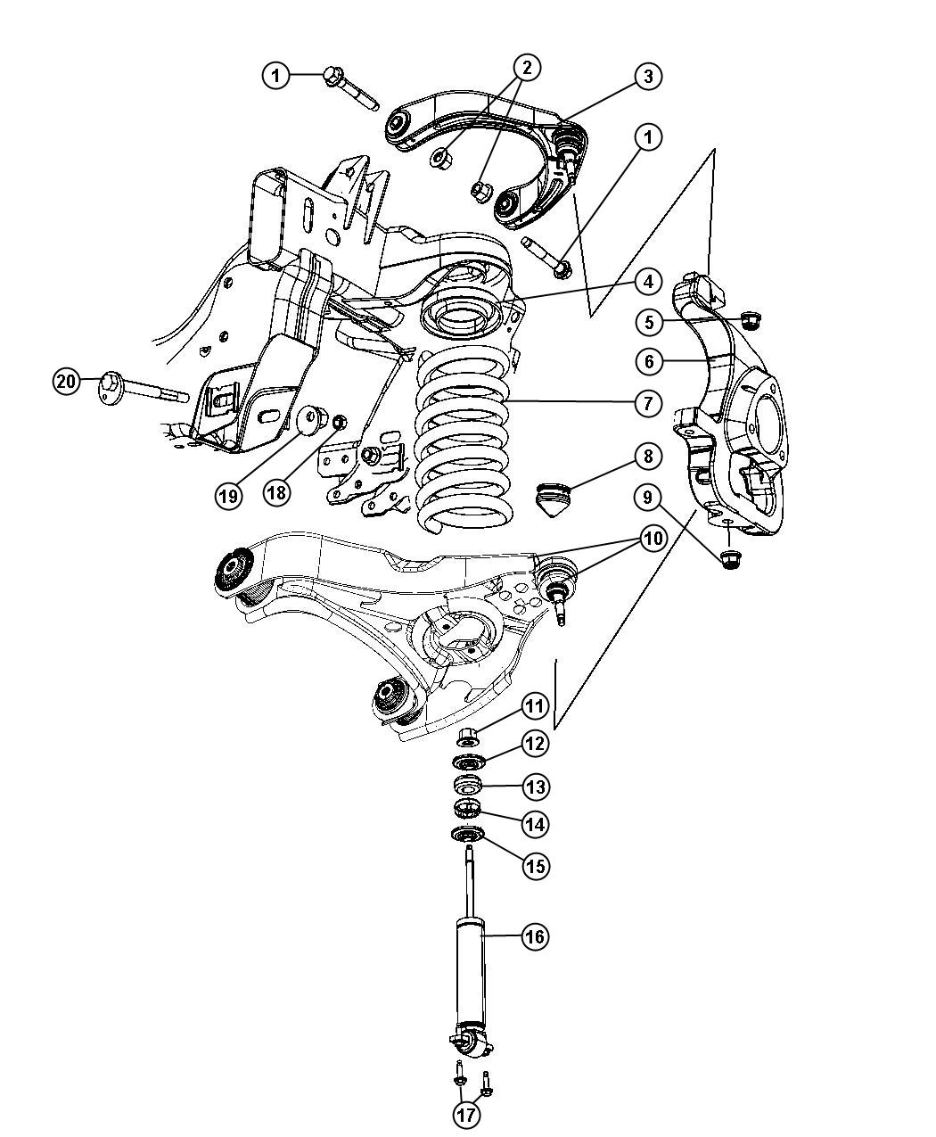 front end diagram labeled octopus dodge ram tie rod chevrolet