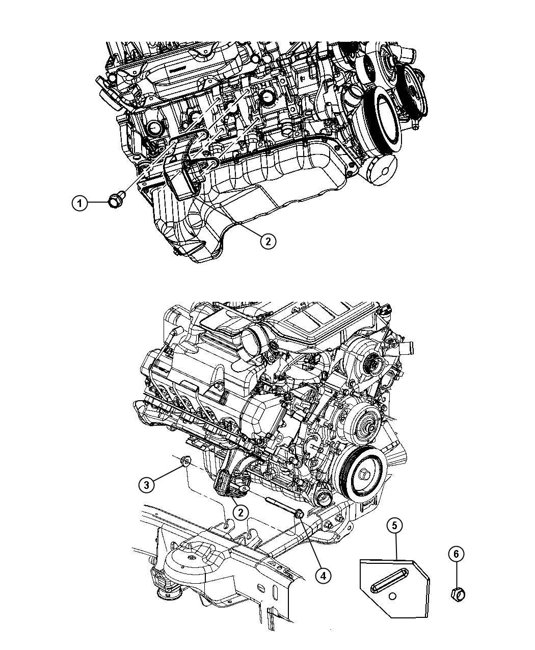 Dodge Ram 1500 Heat shield, shield. Engine mount. Left
