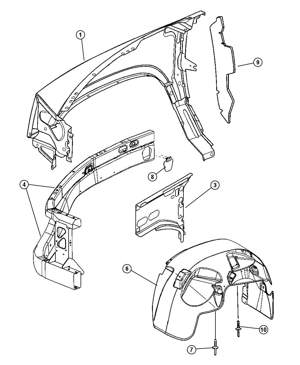 Service manual [Fender To Radiator Brace Removal 2008