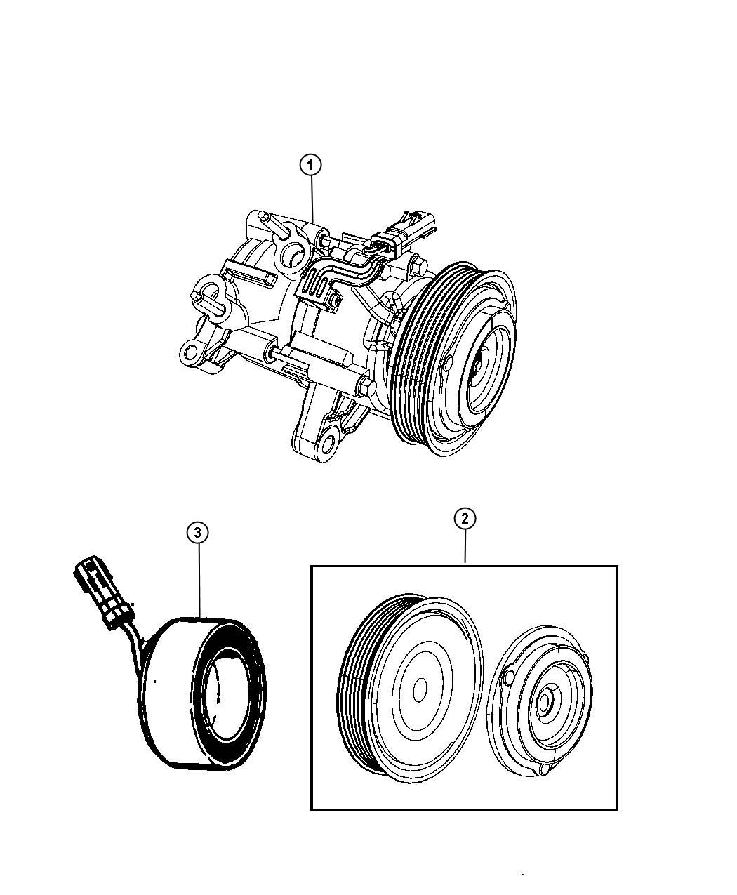 Dodge Nitro Coil Air Conditioning Clutch