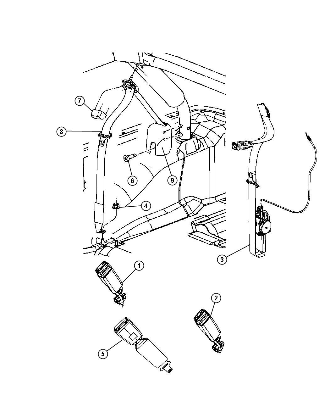 1994 Jeep Wrangler Seat Belt