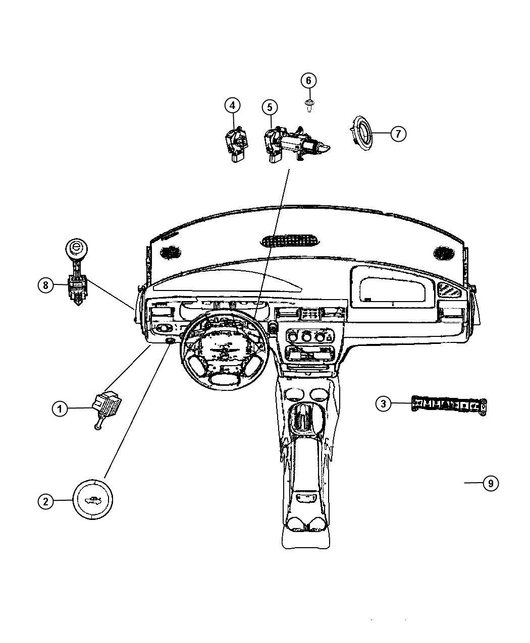 Chrysler Sebring Used For Switch And Lamp Glove Box