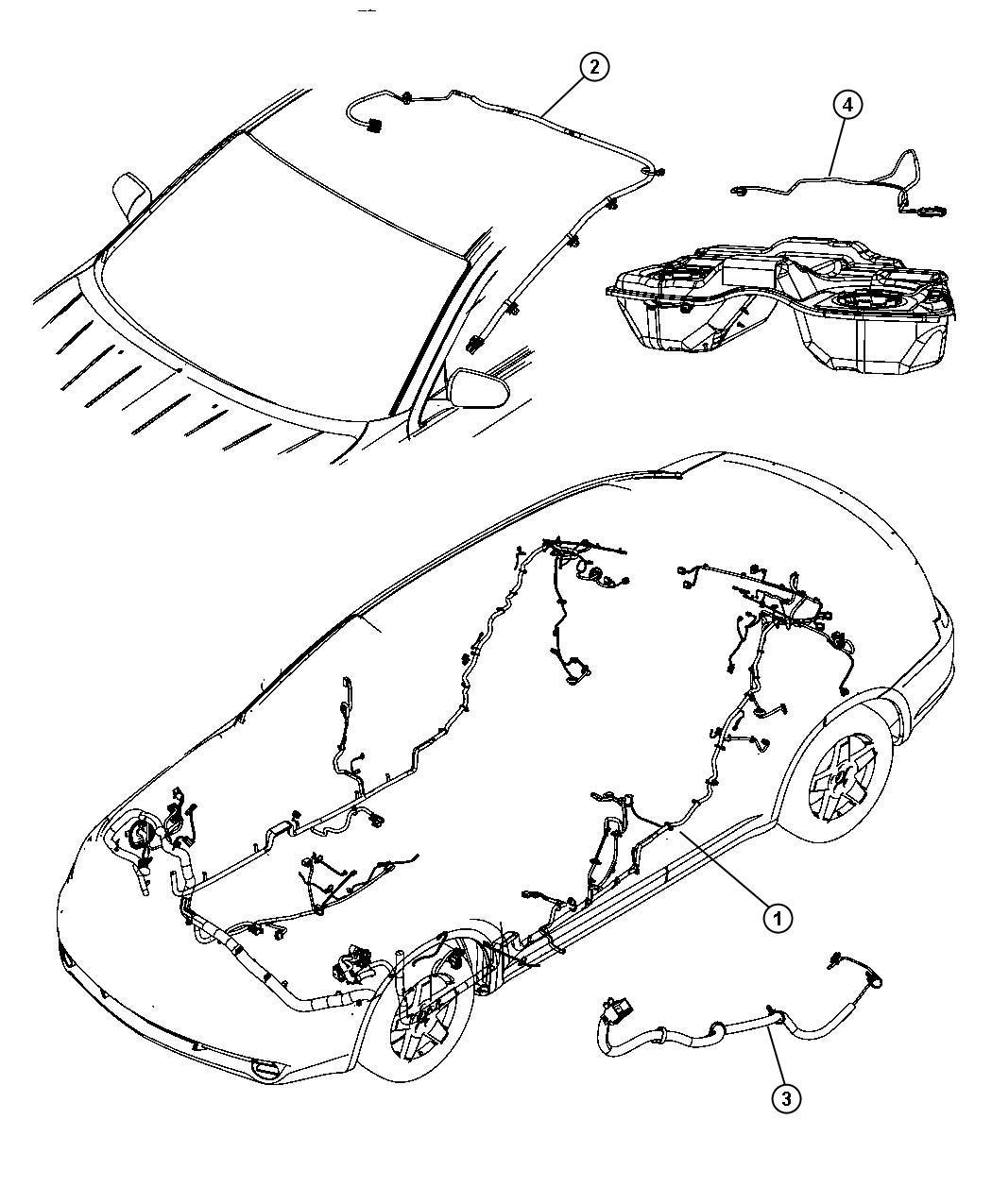 Dodge Avenger Wiring. Console. Trim: [all trim codes