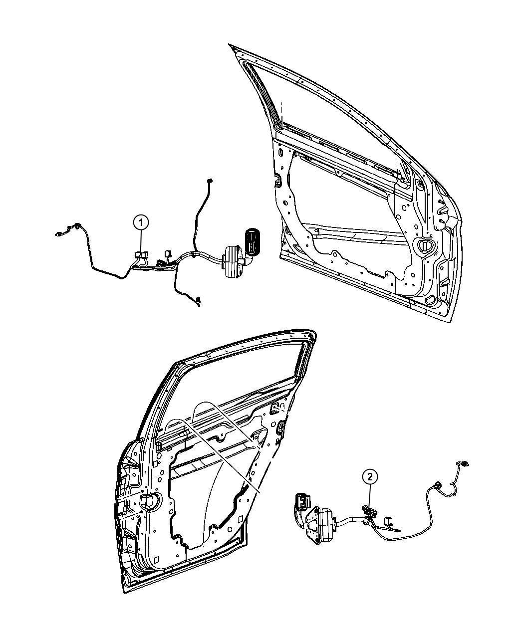 Chrysler Sebring Wiring. Front door. Left. [pwr front