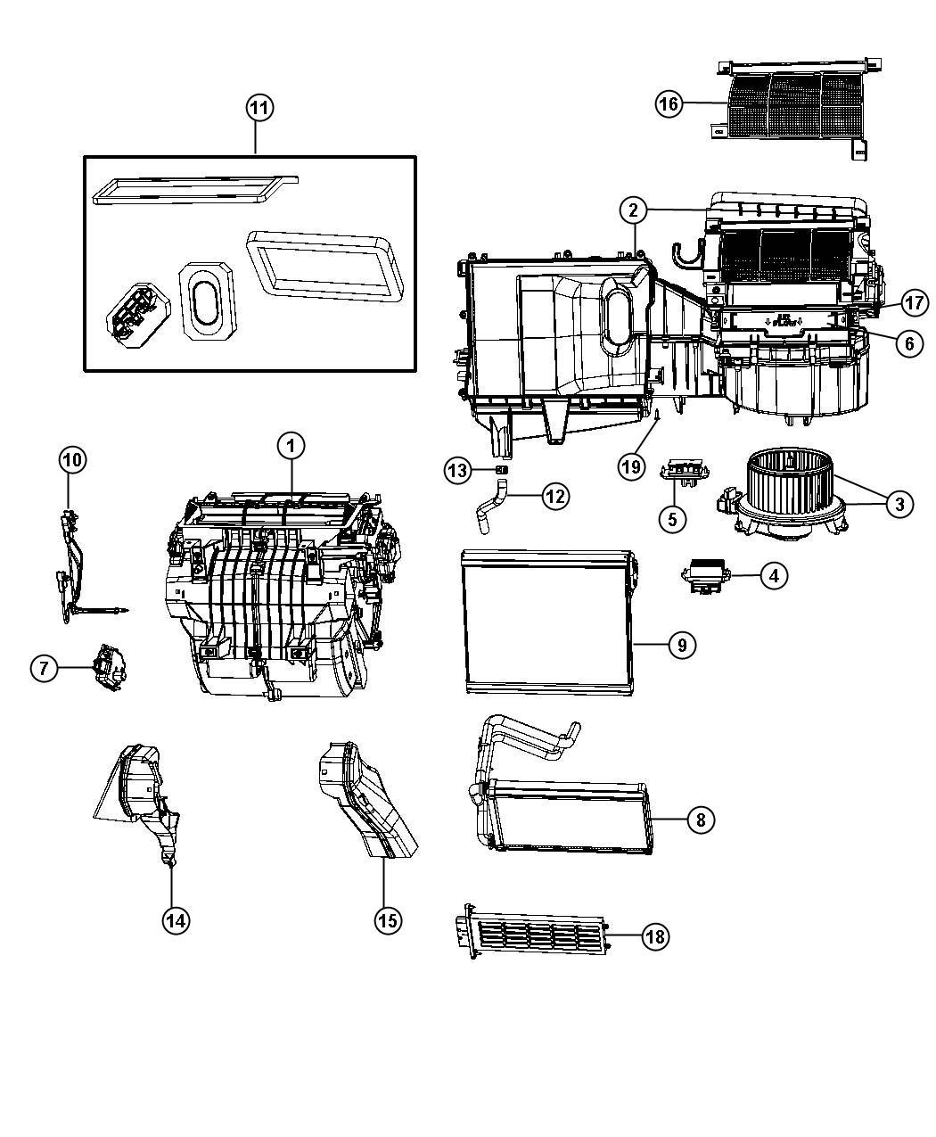 Dodge Heater Blend Door Actuator Location