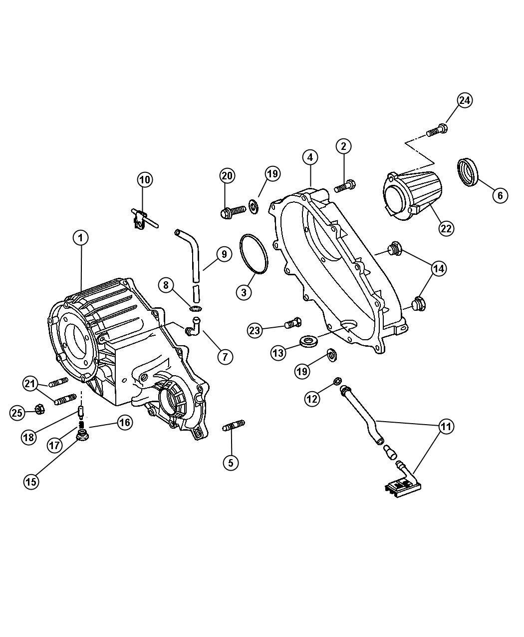 2015 Dodge Plug. Transmission drain. Drain & fill. Dhr