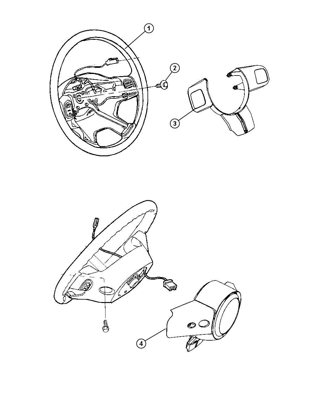 Jeep Liberty Bezel. Steering wheel. Trim: [no description