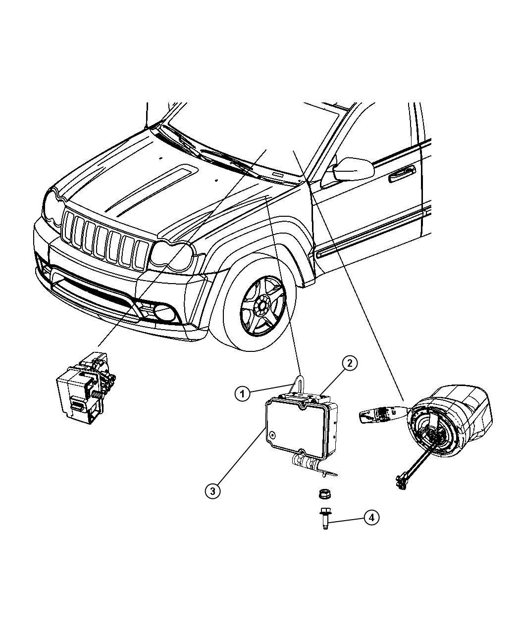 Jeep Grand Cherokee Laredo 3 6l V6 4x2 Control Unit