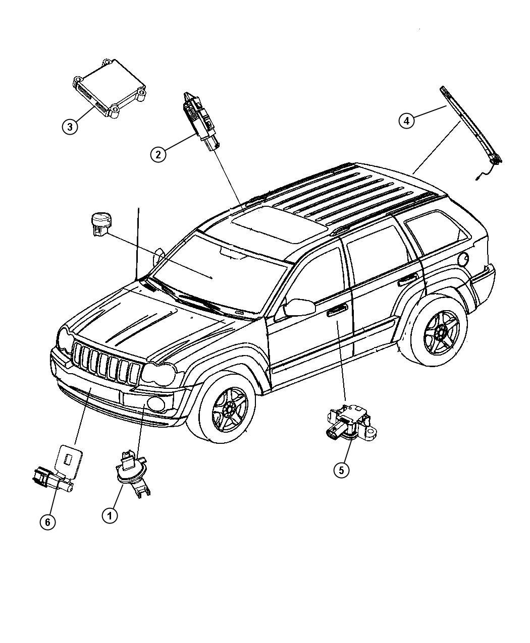 Jeep Grand Cherokee Sensor Pinch Left Power