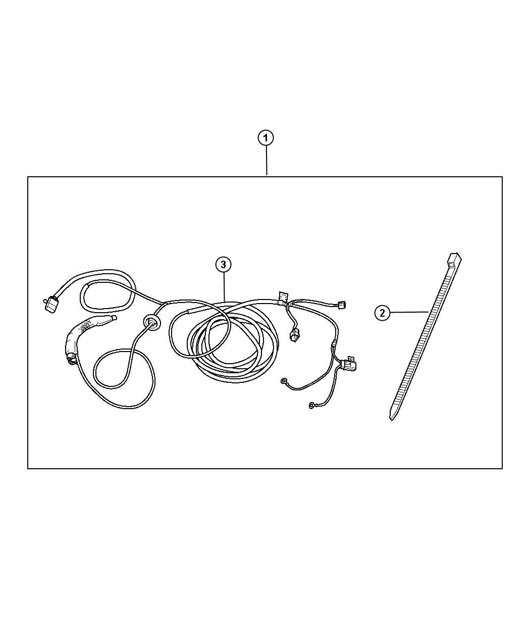 Jeep Patriot Trailer Tow Wiring Harness Kit, with four-way
