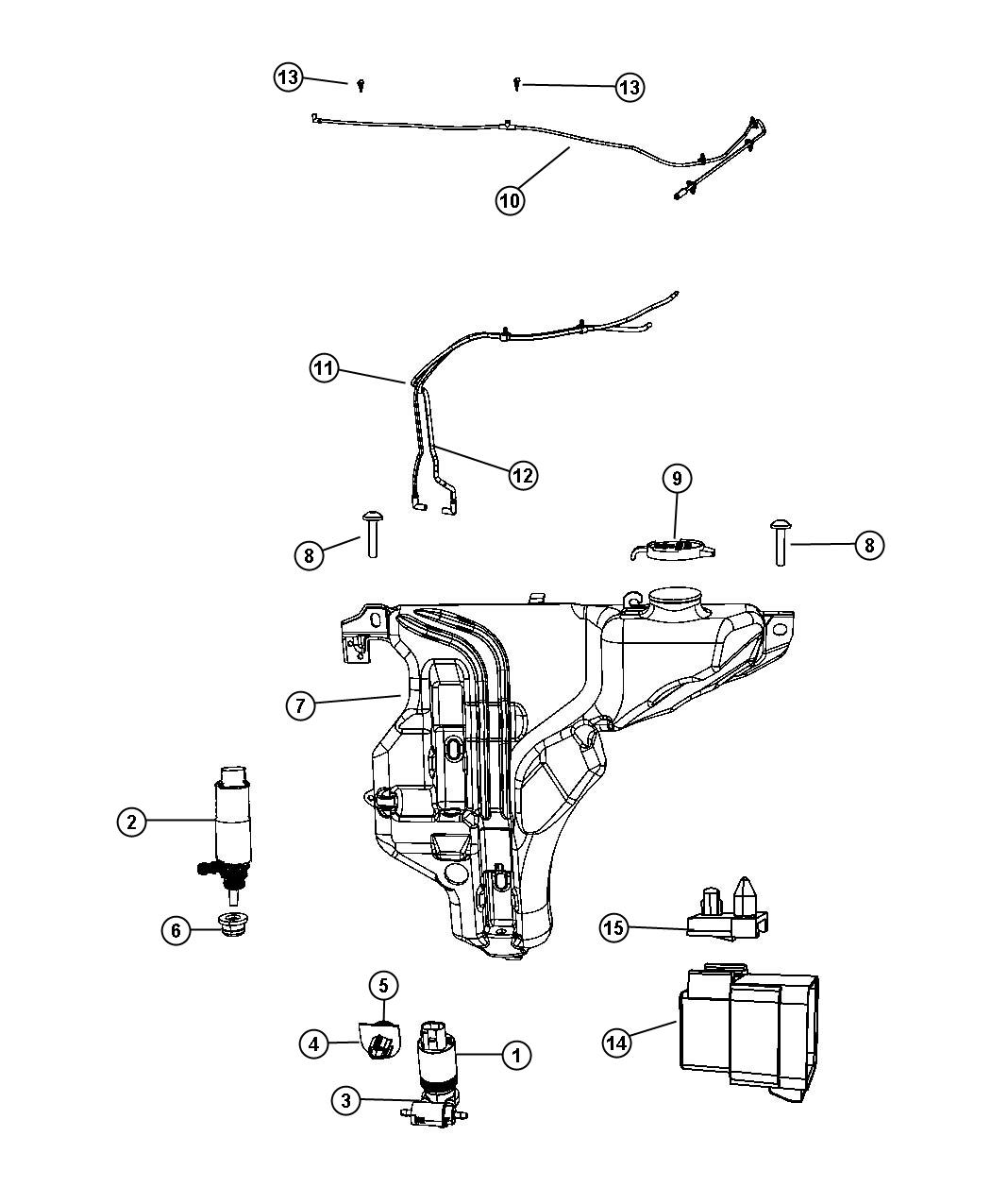 2017 Jeep Patriot Pump, pump package. Washer, windshield