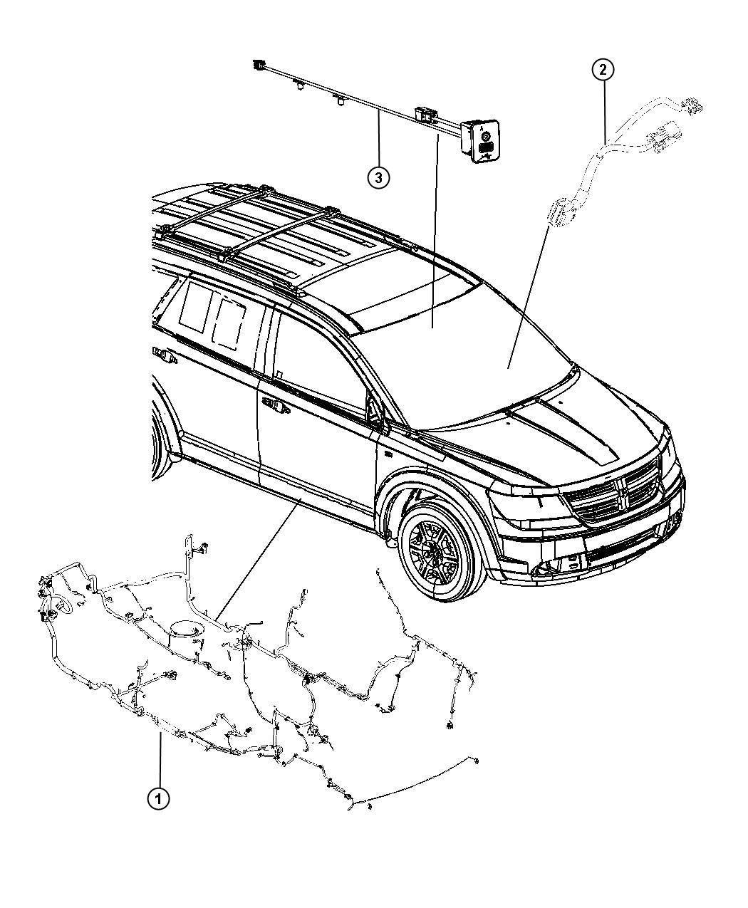 Dodge Journey Wiring. Unified body. [pwr front windows, 1