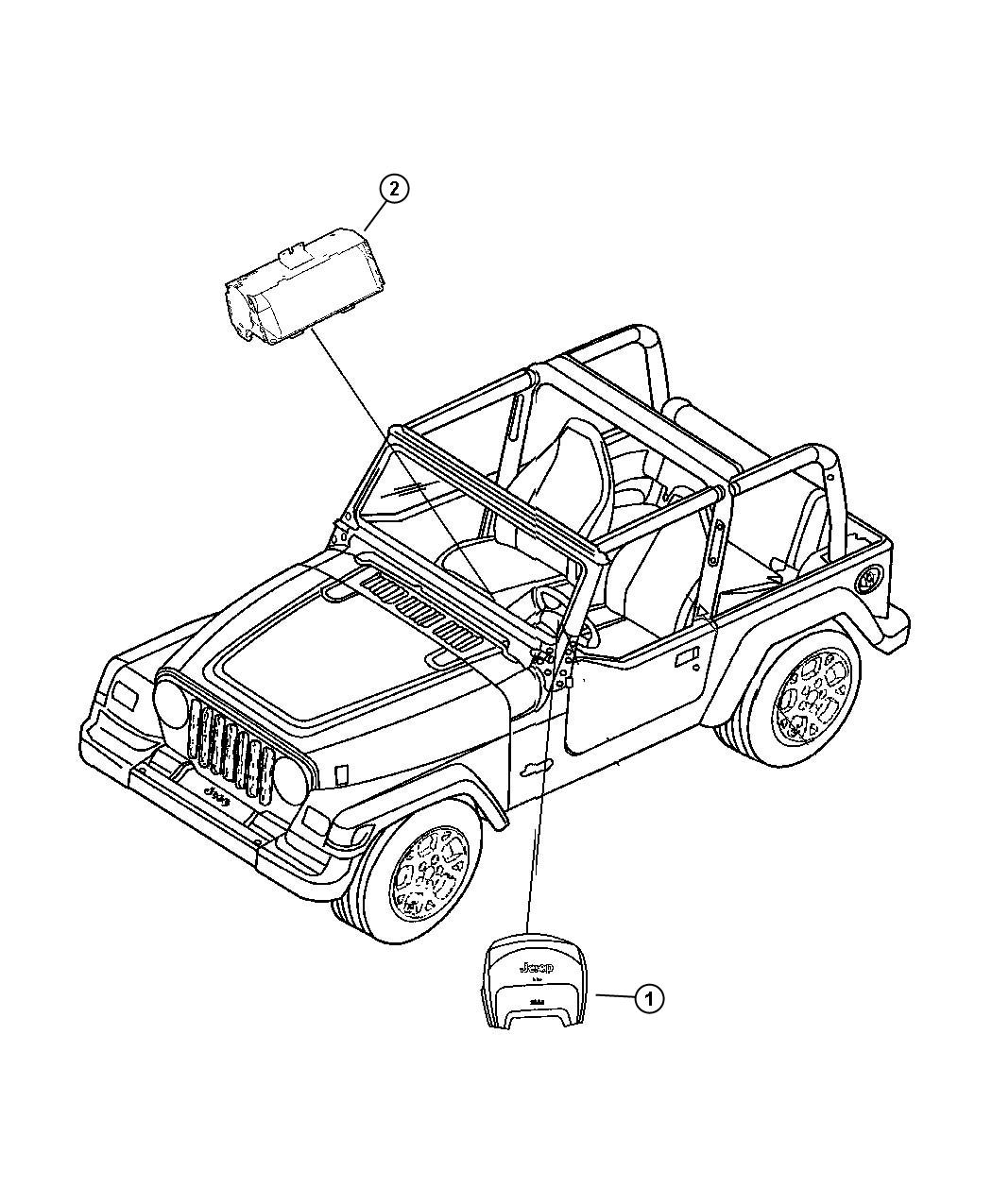 2017 Jeep Wrangler Air bag. Export. Passenger