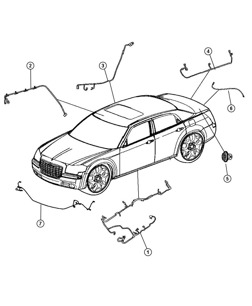 Chrysler 300 Wiring Body Power Tilt Telescope Steering