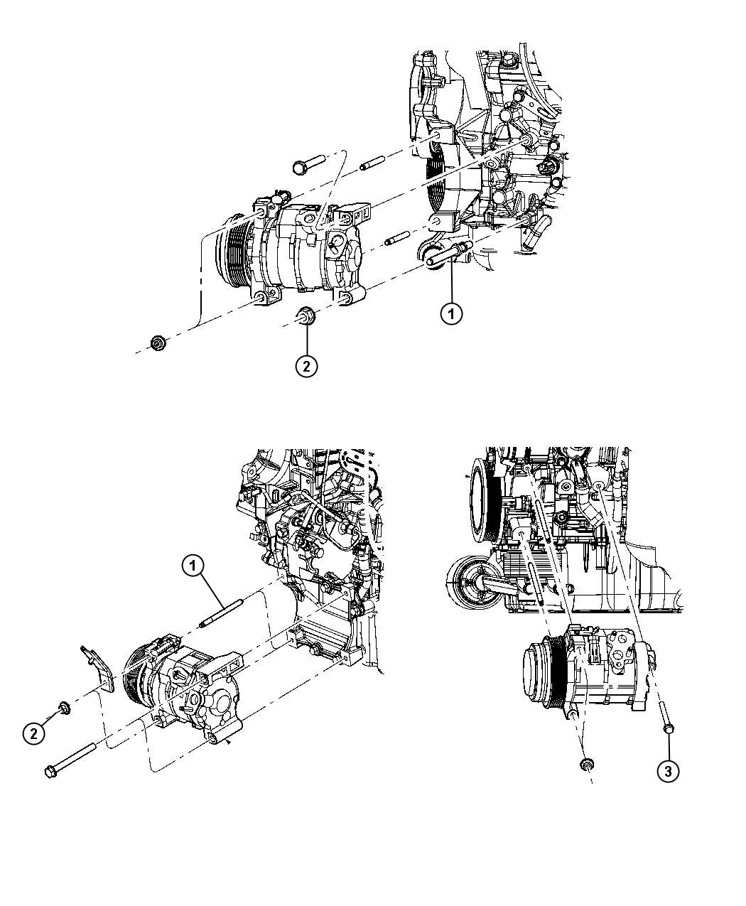 2008 Dodge Caliber SXT 2.0L 4 Cyl CVT Nut. Hex flange. M8
