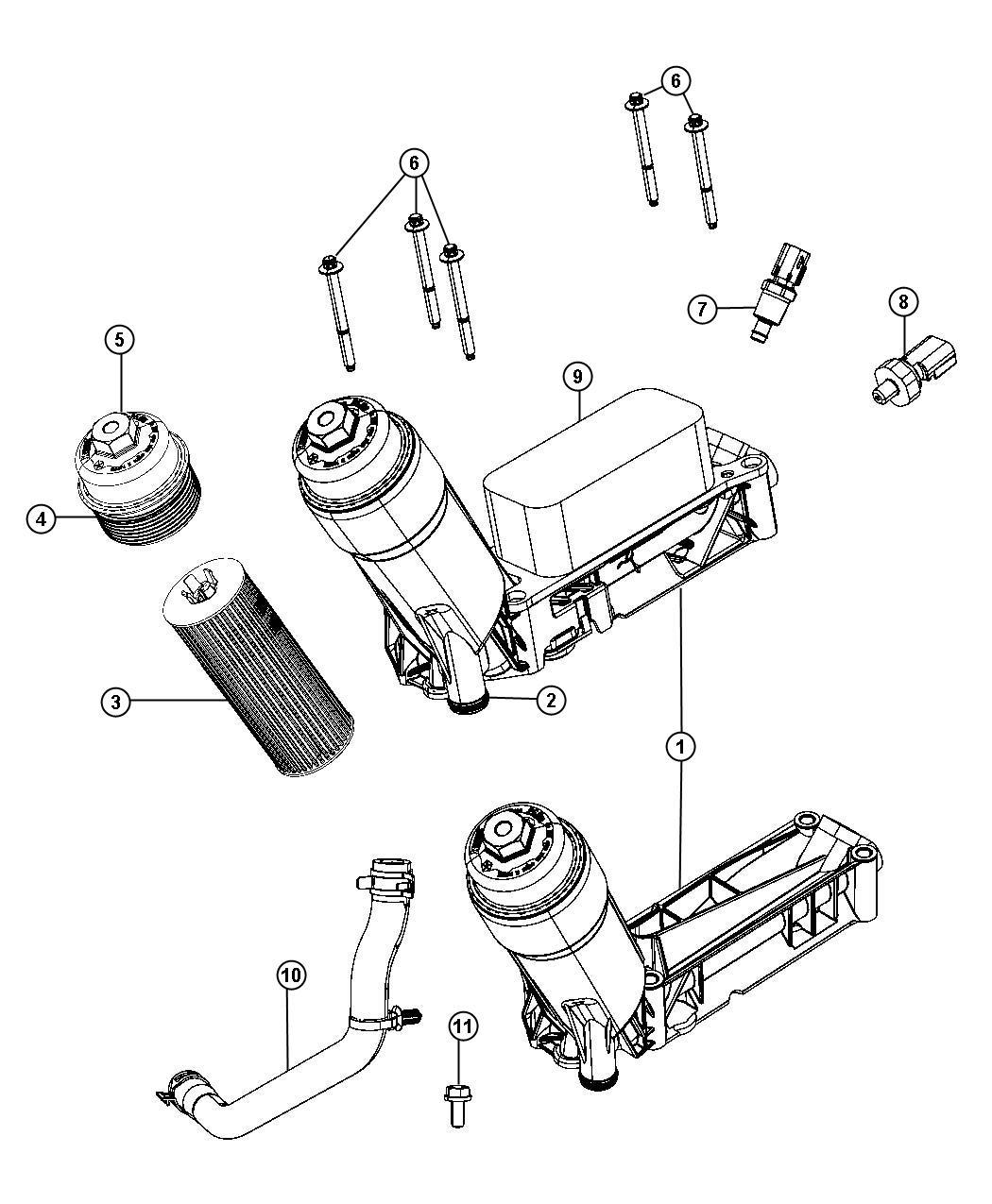 2009 Chrysler Aspen Sensor. Coolant temperature, fluid