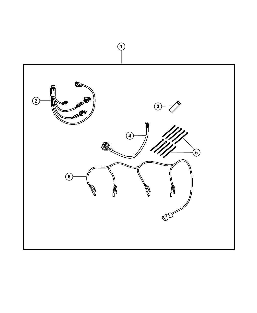 Dodge Nitro Harness. Wiring. Interior relay/switch harness