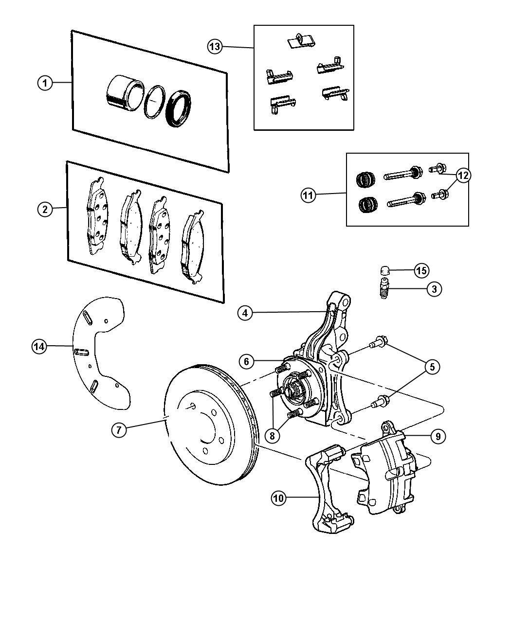 Dodge Journey Pad kit. Front disc brake. Brakesfrontfwd