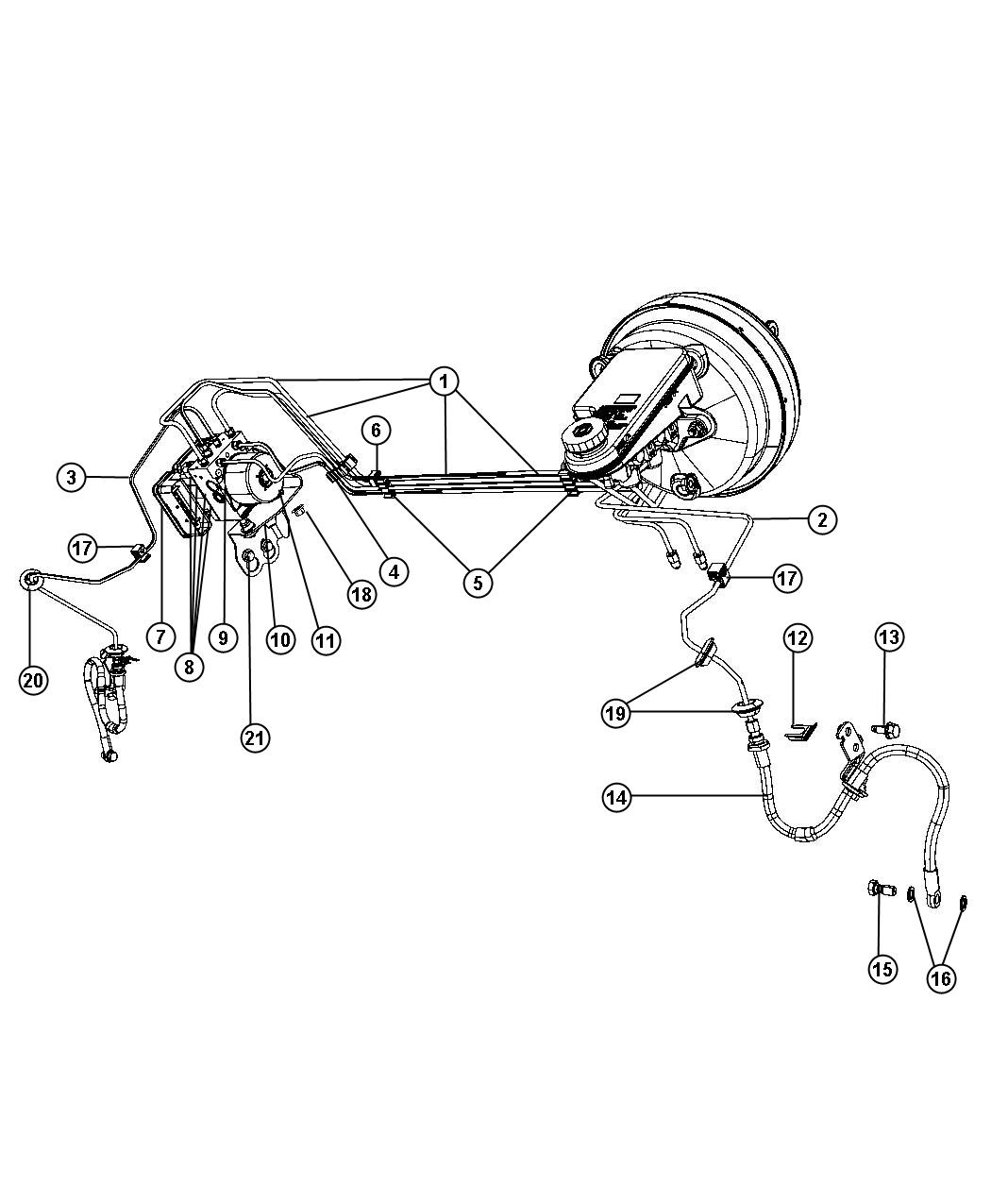 2011 Dodge Journey Hydraulic control unit. Anti-lock brake