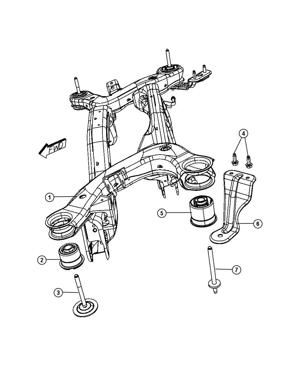 Chrysler Sebring Isolator Crossmember Front
