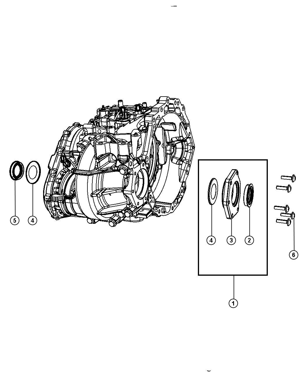 2017 Dodge Journey Extension. Transmission. Adapters