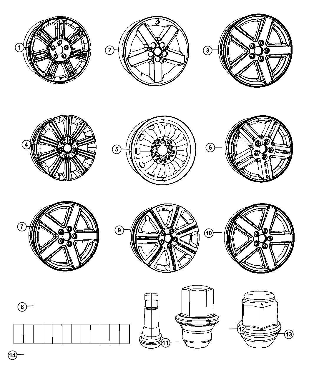 Chrysler 200 Wheel. Aluminum. Front or rear. [18 aluminum