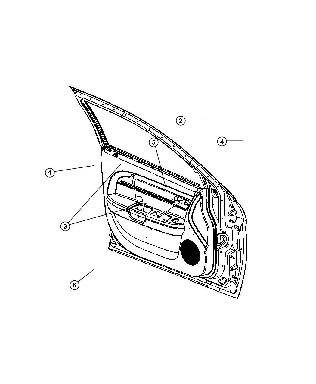 Chrysler 200 Cover. Handle screw. Left. [black/lt frost