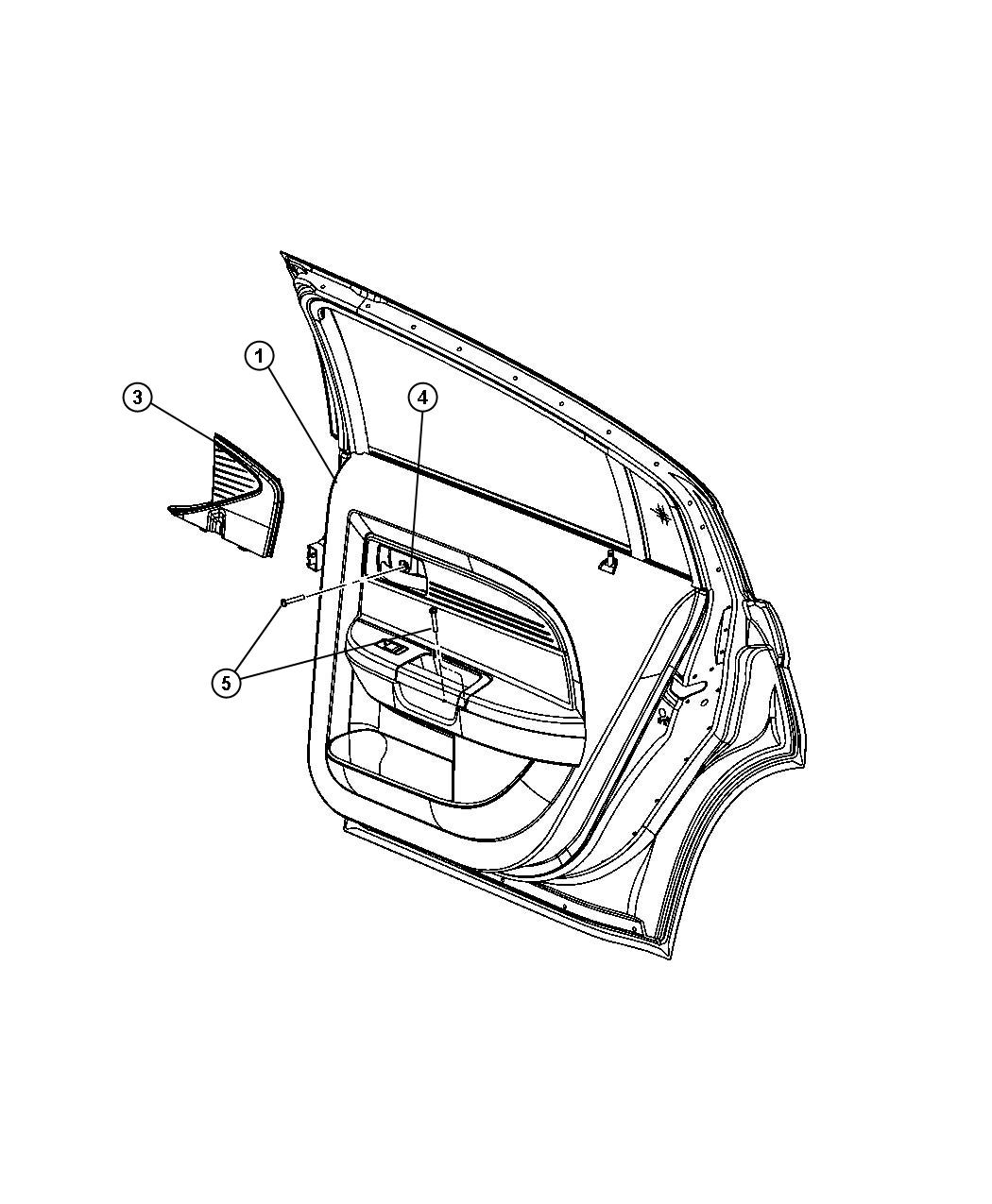Chrysler 200 Panel. Rear door trim. Right. [xr]. Trim