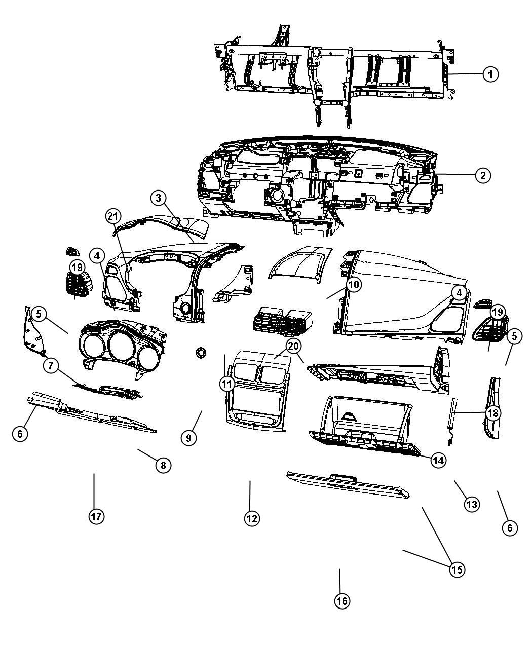 Dodge Avenger Outlet. Center. Right. Trim: [all trim codes