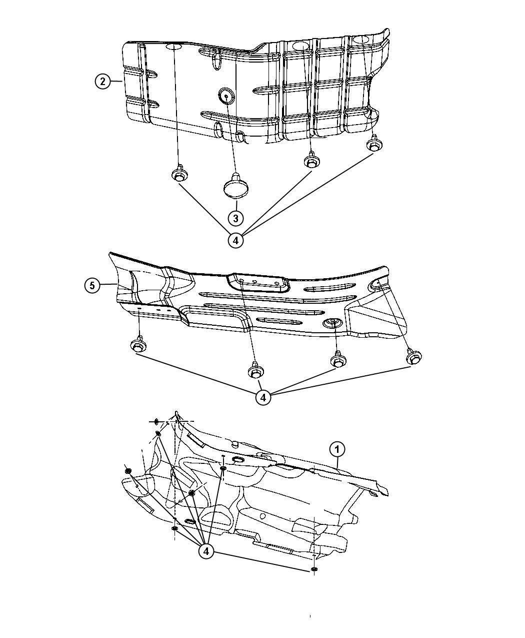 2012 Jeep Liberty Shield. Exhaust, floor pan. Muffler
