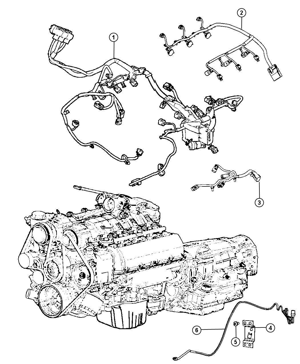 2012 Dodge Grand Caravan CREW 3.6L V6 Wiring. Injector