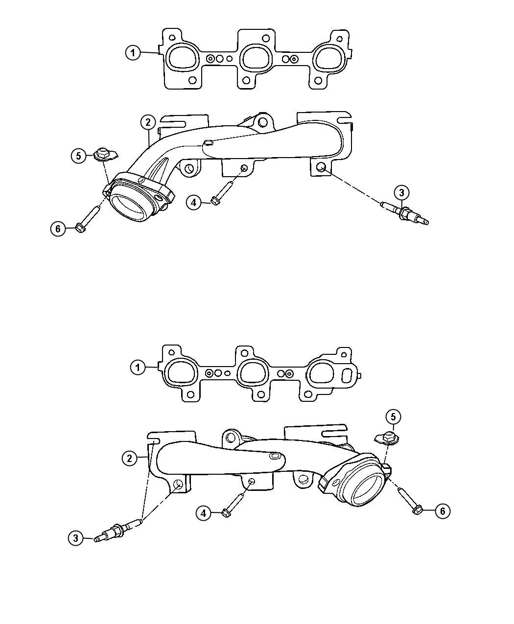 Dodge Durango Manifold Exhaust Right Right Side