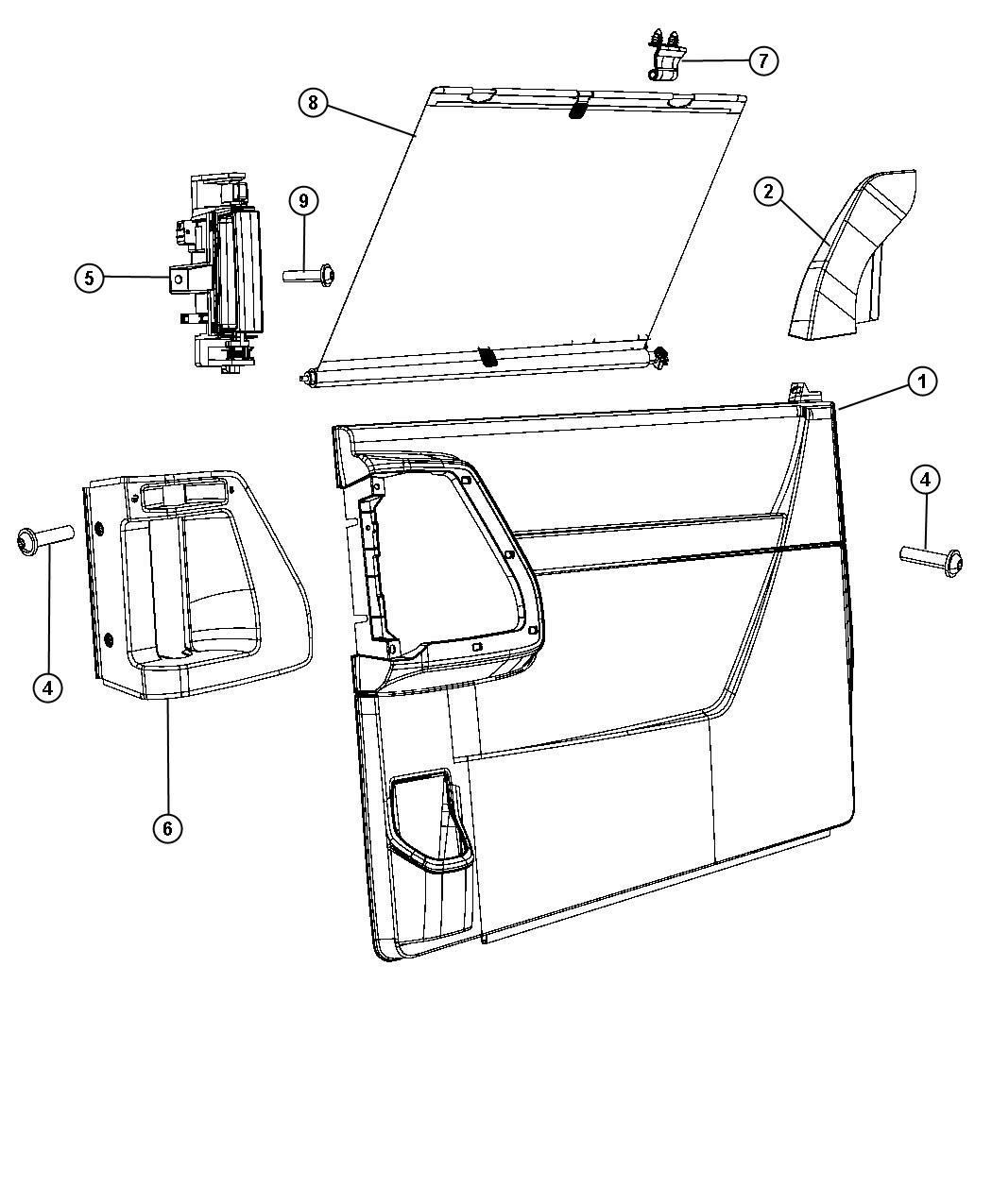 Chrysler Town Country Liftgate Parts Diagram. Chrysler
