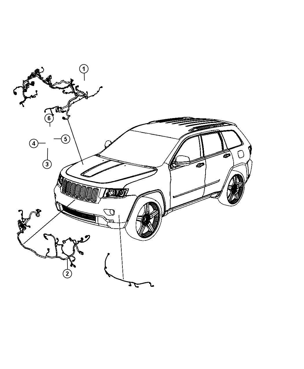 Jeep Grand Cherokee Wiring. Headlamp to dash. [bi-xenon
