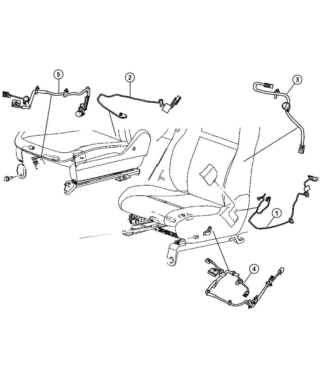 Dodge Durango Wiring. Power seat. Trim: [cloth low-back