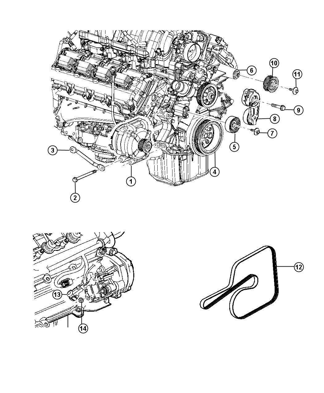 Chrysler 300 Generator. Remanufactured. Engine
